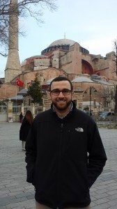 Andrew in front of Hagia Sophia on Real Break Constantinople